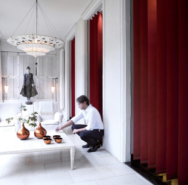 lamellenvorhang das spiel mit licht und schatten. Black Bedroom Furniture Sets. Home Design Ideas